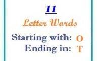 Eleven letter words starting with O and ending in T
