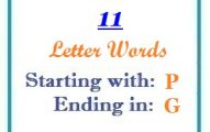 Eleven letter words starting with P and ending in G