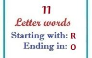 Eleven letter words starting with R and ending in O