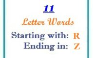 Eleven letter words starting with R and ending in Z