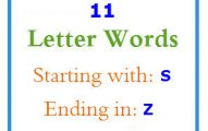Eleven letter words starting with S and ending in Z