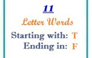 Eleven letter words starting with T and ending in F