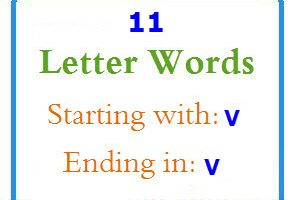 Eleven letter words starting with V and ending in V