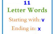 Eleven letter words starting with V and ending in X