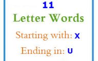 Eleven letter words starting with X and ending in U