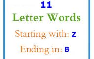 Eleven letter words starting with Z and ending in B