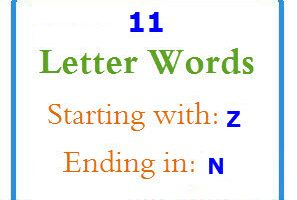Eleven letter words starting with Z and ending in N