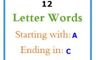 Twelve letter words starting with A and ending in C