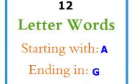 Twelve letter words starting with A and ending in G