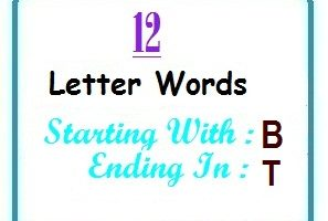 Twelve letter words starting with B and ending in T