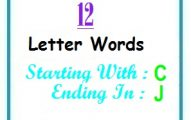 Twelve letter words starting with C and ending in J