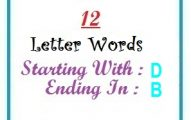 Twelve letter words starting with D and ending in B