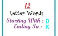 Twelve letter words starting with D and ending in K