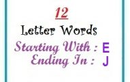 Twelve letter words starting with E and ending in J
