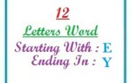 Twelve letter words starting with E and ending in Y