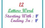 Twelve letter words starting with F and ending in F