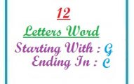 Twelve letter words starting with G and ending in C