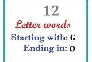 Twelve letter words starting with G and ending in O