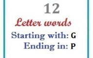 Twelve letter words starting with G and ending in P