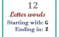 Twelve letter words starting with G and ending in Z