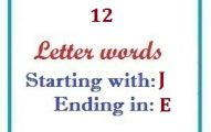 Twelve letter words starting with J and ending in E