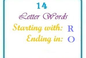 Twelve letter words starting with R and ending in O