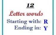 Twelve letter words starting with R and ending in Y
