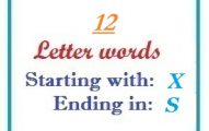 Twelve letter words starting with X and ending in S