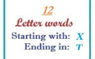 Twelve letter words starting with X and ending in T