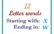 Twelve letter words starting with X and ending in W