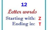 Twelve letter words starting with Z and ending in T
