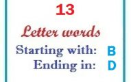 Thirteen letter words starting with B and ending in D