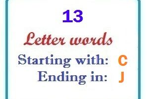 Thirteen letter words starting with C and ending in J