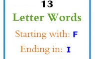 Thirteen letter words starting with F and ending in I