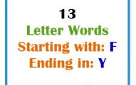 Thirteen letter words starting with F and ending in Y
