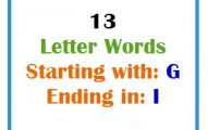 Thirteen letter words starting with G and ending in I