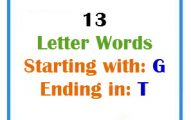 Thirteen letter words starting with G and ending in T