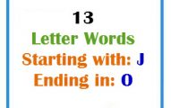 Thirteen letter words starting with J and ending in O