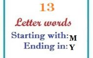 Thirteen letter words starting with M and ending in Y