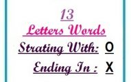 Thirteen letter words starting with O and ending in X