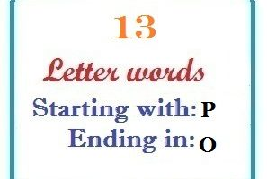 Thirteen letter words starting with P and ending in O