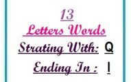 Thirteen letter words starting with Q and ending in I
