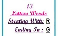 Thirteen letter words starting with R and ending in G