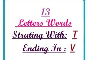 Thirteen letter words starting with T and ending in V