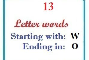 Thirteen letter words starting with W and ending in O