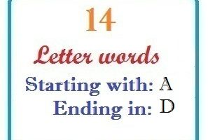 Fourteen letter words starting with A and ending in D