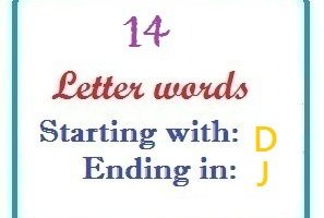 Fourteen letter words starting with D and ending in J