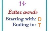 Fourteen letter words starting with D and ending in T