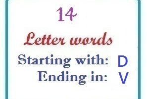 Fourteen letter words starting with D and ending in V