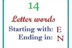 Fourteen letter words starting with E and ending in N